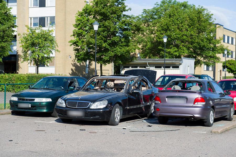 Bilbomb på Koppargården