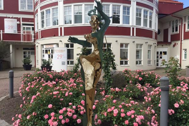 Ingen skulptur utanför Citadellkliniken
