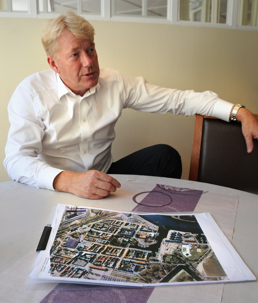 Göran Andersson är verkligen med om att forma framtidens kvarter runt stadshuset.