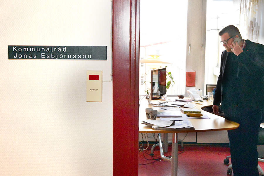 Kommunalråd Jonas Esbjörnsson (S).