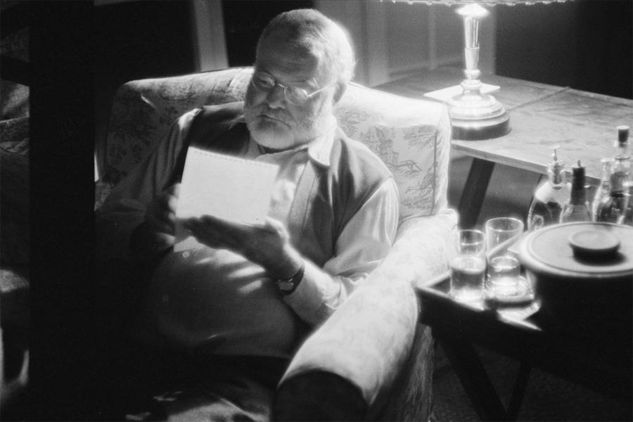 Ernest Hemingway på Kuba. Foto: Foto: Tore Johnson, Nordiska museet.