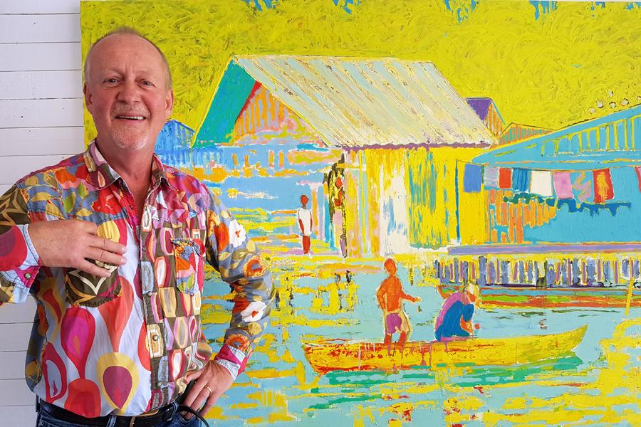 Landskapsmålare är ett epitet som följer med konstnären Björn Wessman från början av hans konstnärliga karriär. Björns intresse för naturen startade tidigt i barndomen med lekar i vildvuxna skånska trädgårdar och skogar. Landskapet och naturen har ständigt varit återkommande motiv i rikt varierande former. Inspiration får han från hela världen.