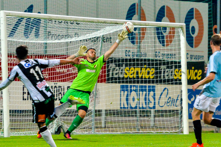 Saber Azizi gjorde också en mycket bra match och var ytterst nära att hamna i målprotokollet i slutet av matchen.