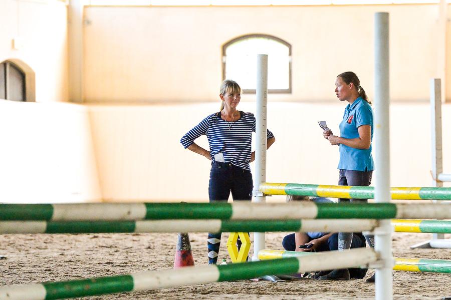 Josefin Voll och Emelie Warmenius var nöjda med tävlingsdagen.