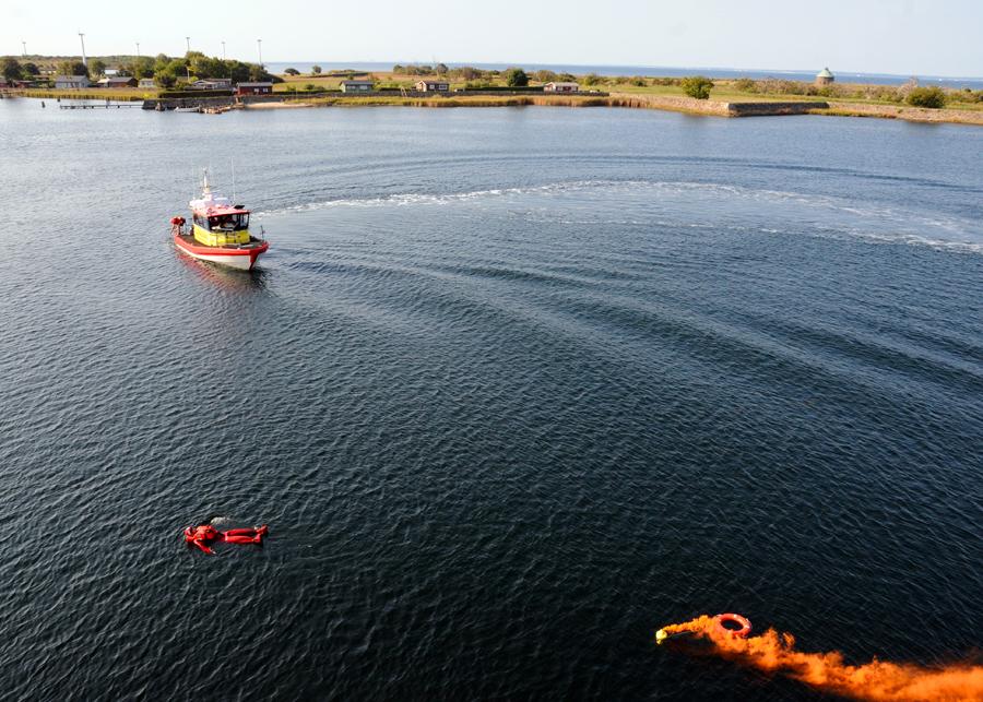 Sjöräddningssällskapet var på plats och kunde snabbt ingripa.