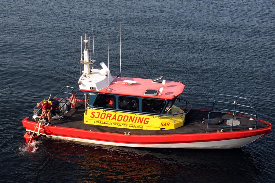 Så fick Sjöräddningen från Barsebäckshamn användning för sin nya stege.