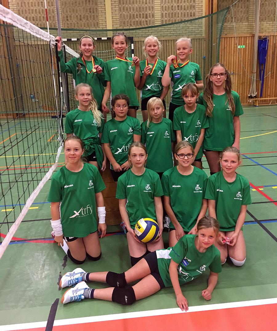 Kronans duktiga volleybollspelare i U13