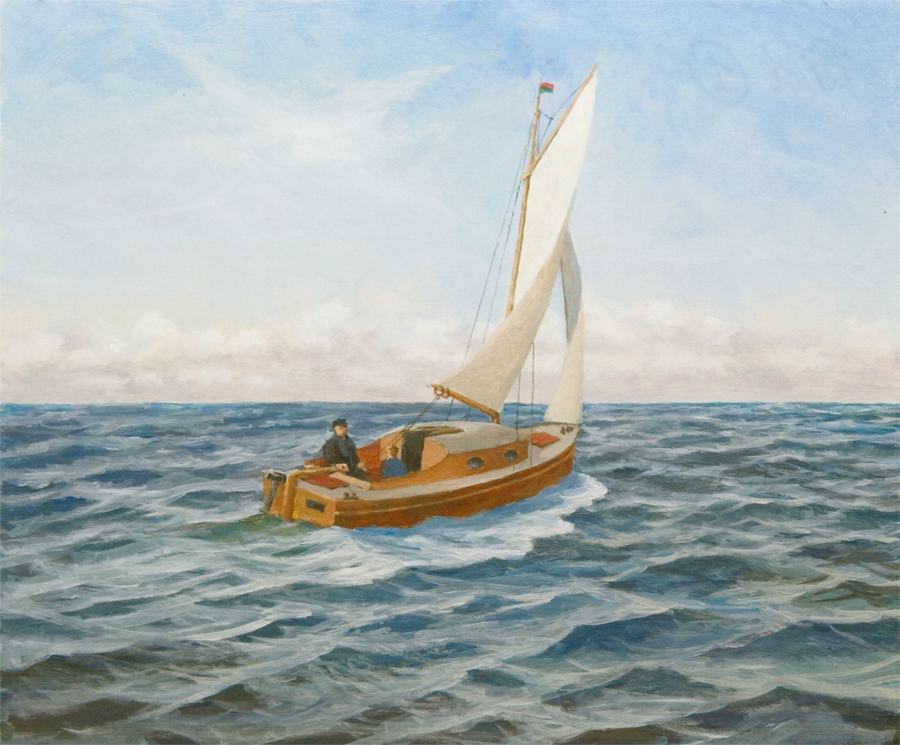 Med segelbåten Ilse korsade familjen Östersjön.  - Jag minns hur pappa satt vid rodret i 18 timmar i sträck, säger Reinhardt Grosch.