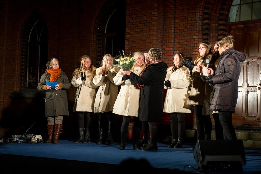 Nathalie Oltner utnämndes till Årets Landskrona Lucia. Foto: Josefin Larsson.