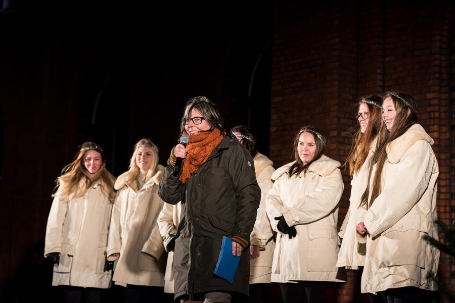 Lotta Thosteman var kvällens konferencier. Foto: Josefin Larsson.