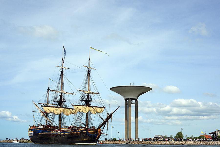 Kaptenen på Götheborg åter i Landskrona