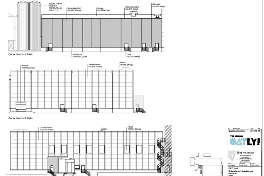 Oatly bygger ut med 3000 kvadratmeter. Den översta grå ytan är tillbyggnaden.