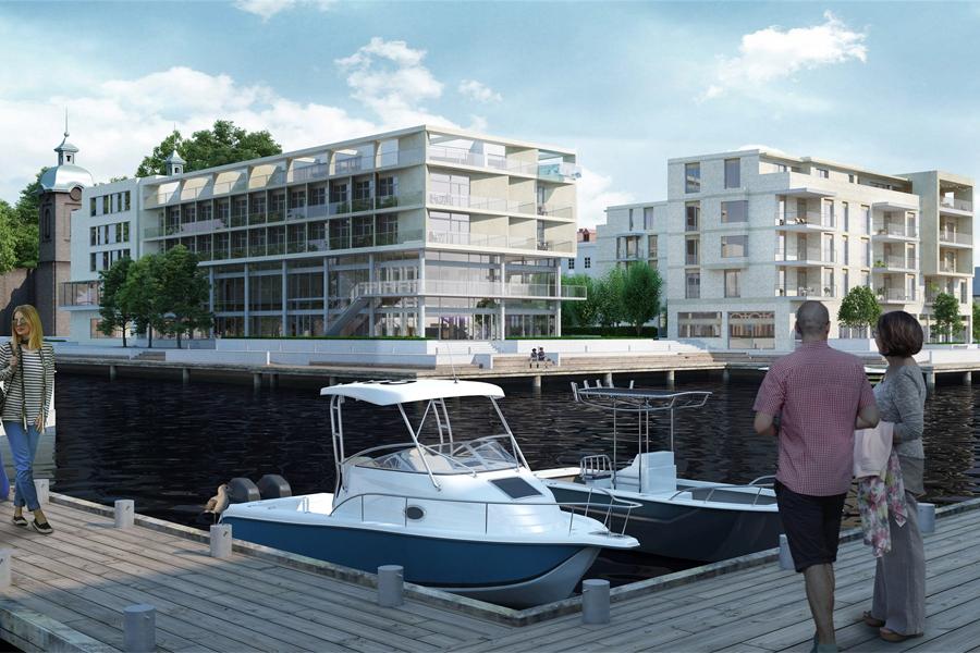 Peab bygger hotellet och bostäderna på Stadskajen.