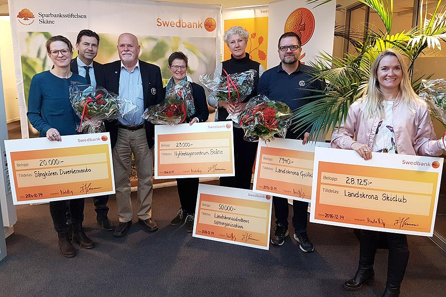 Sparbanksstiftelsen Skåne stöttar sju lokala  projekt