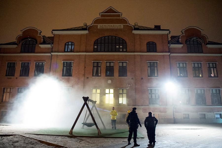 Brand på Seminarieskolan på nyårsnatten
