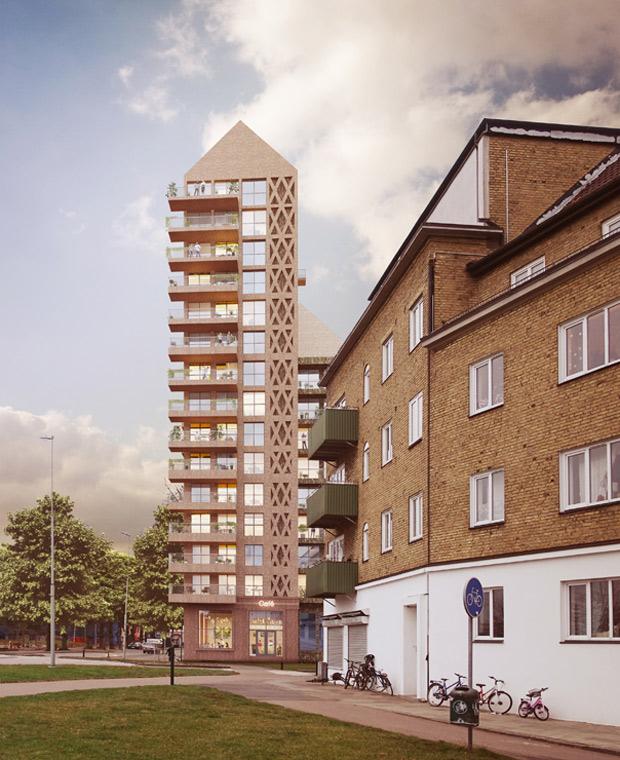 Kvarteret Jäntan kommer att bli inkörsporten till centrum om man kommer söderifrån. Bild/montage: Okidoki! arkitekter
