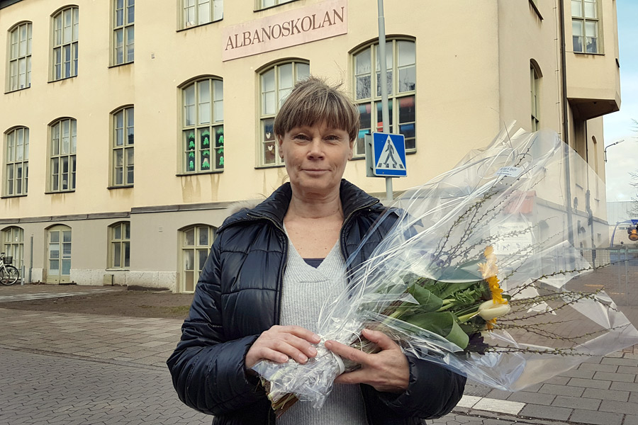 Jenny Engdahl är mycket stolt och glad över att ha tilldelats Landskrona stads hedersmedalj 2017.