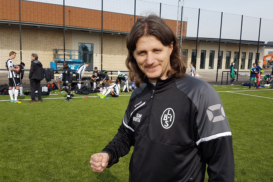 Agim Sopi gläds åt att BoIS vann med 5-0 över Österlen.