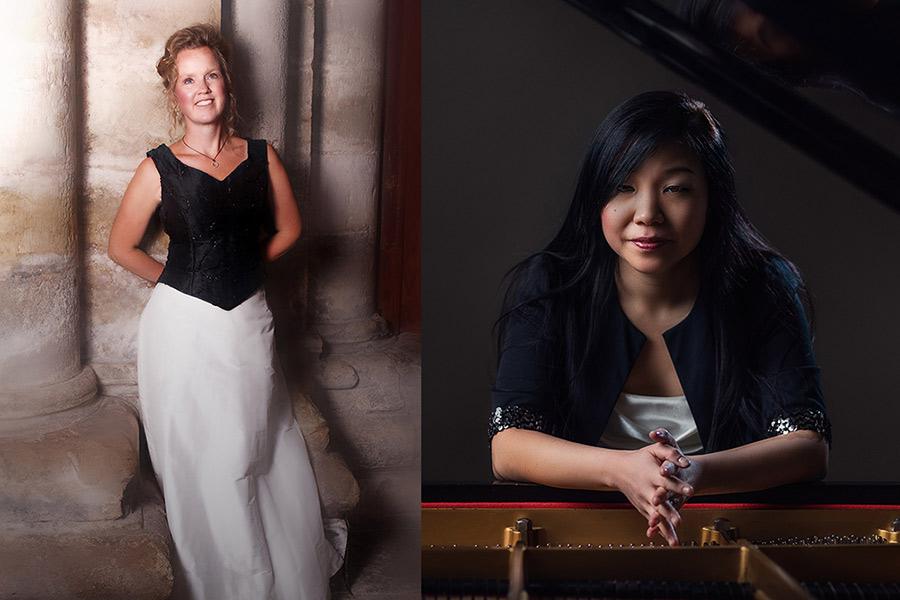 Duo Nordic består av Pernilla Ingvarsdotter, sopranoch Ha-Young Sul, piano.