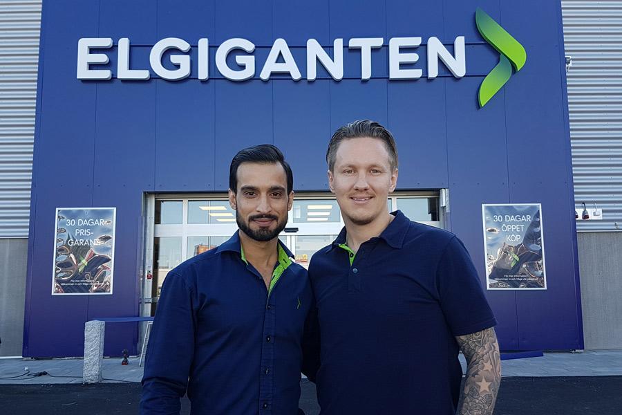 Den 12 september slår Elgiganten upp portarna i Landskrona. Waqar Ali och Michael Thorup ser med spänning an framtiden.
