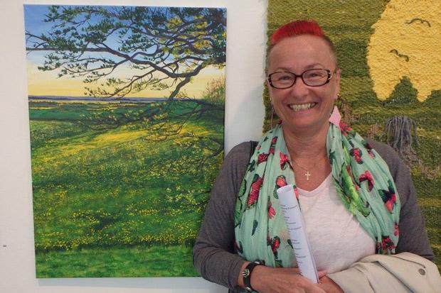 Louise Östberg ställer ut på stadsbiblioteket
