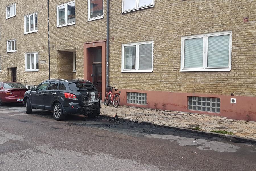 Bilbrand på Stora Norregatan