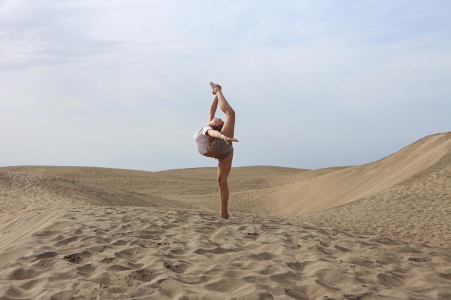 Gymnaster strålade på Gran Canaria