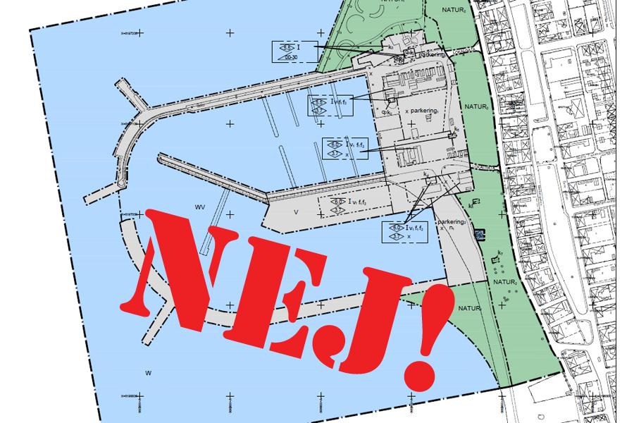 Nej till utbyggnadsplaner av Borstahusens hamn