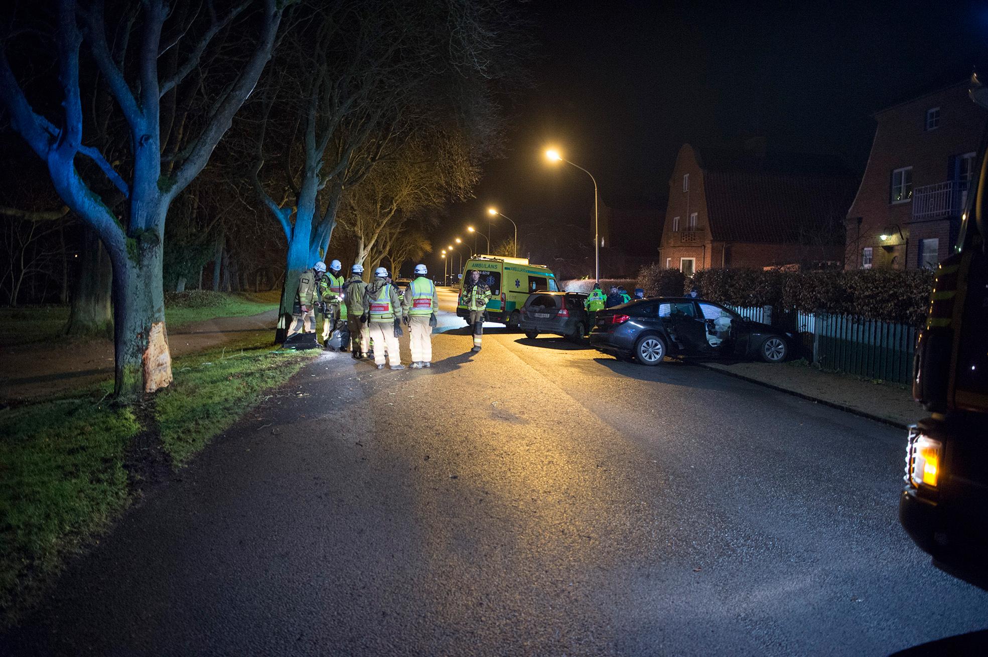 Polis i biljakt med pojkar
