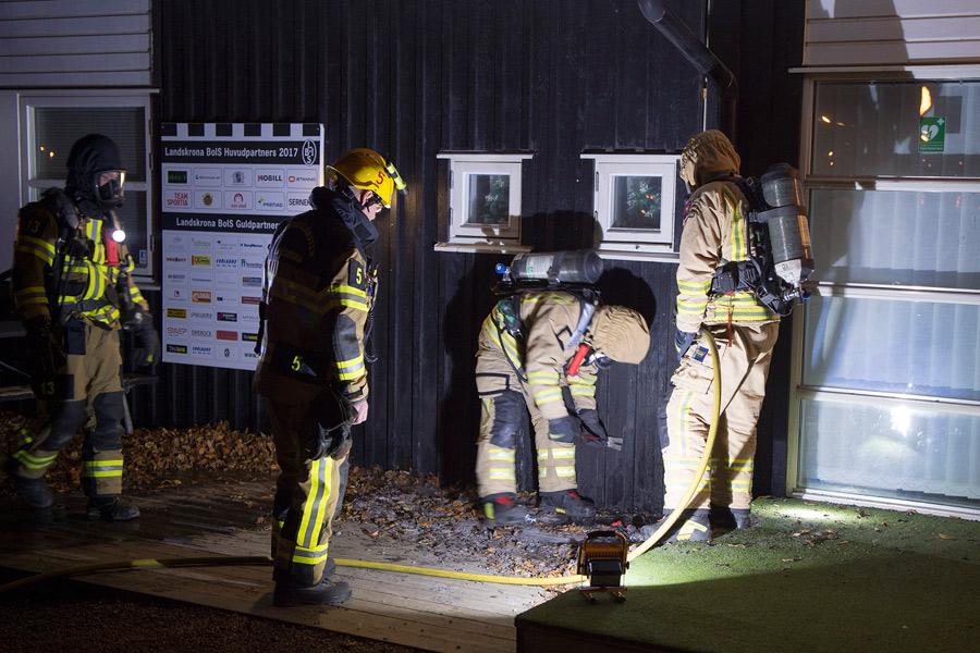 Brand i BoIS klubbstuga