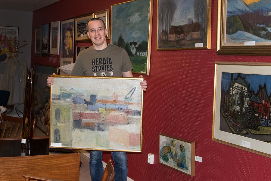 Oljemålningar av Rudberg säljs på auktion