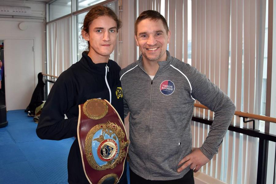 Taekwondolöfte tränade med boxningsvärldsmästaren