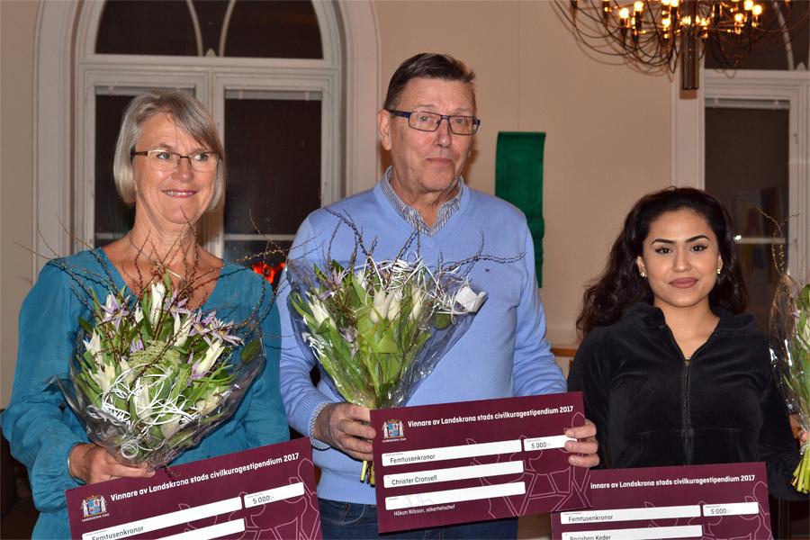 Tre modiga Landskronabor får civilkuragestipendium