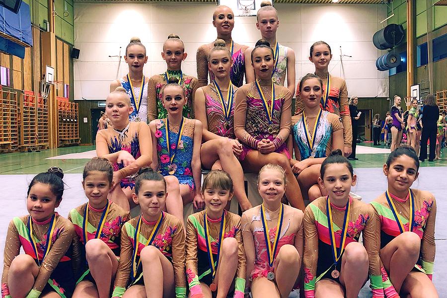 Nästa generations gymnaster visade upp sig