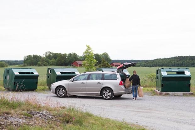 Återvinningsstation i Härslöv