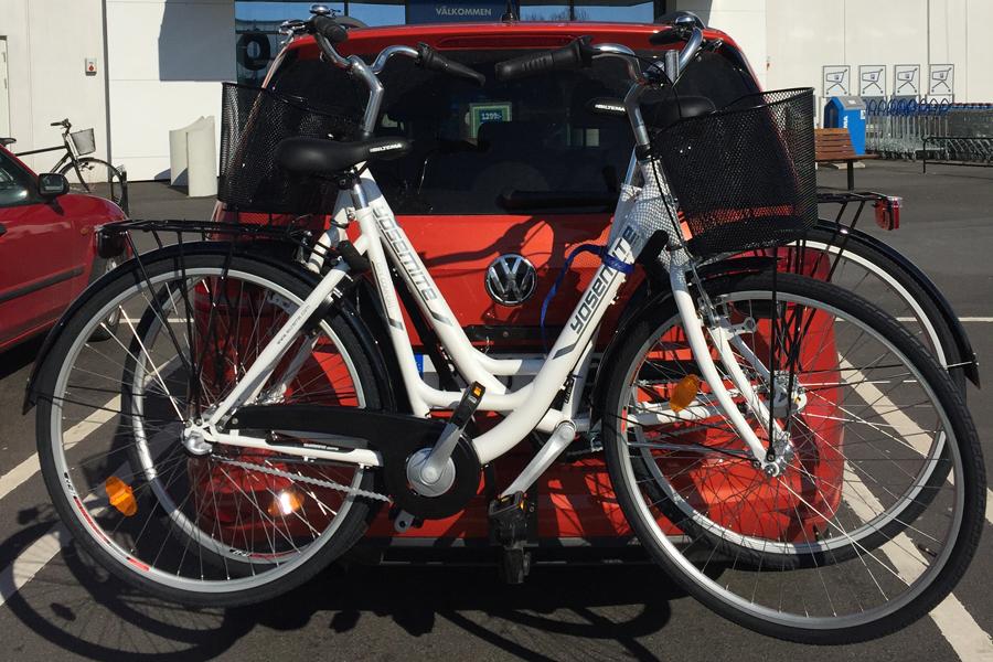 Cyklar som stöd till Kvinnohuset