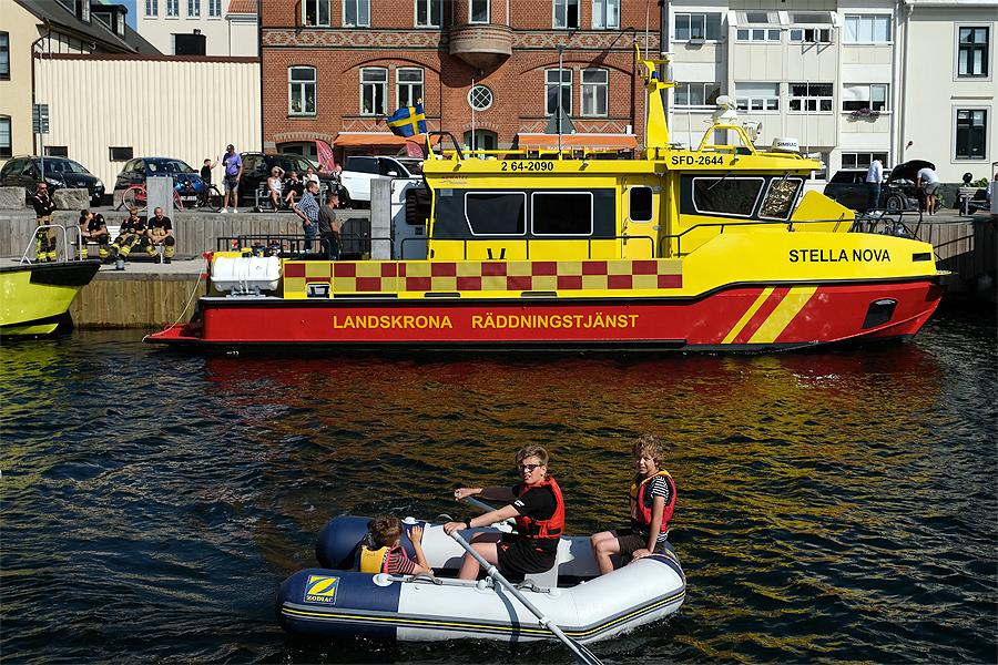 Stor sjöräddningsövning