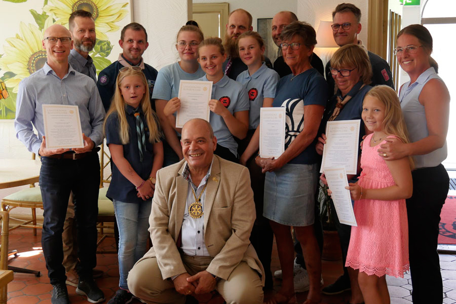 Rotaryklubb gjorde en sista insats för ungdomar