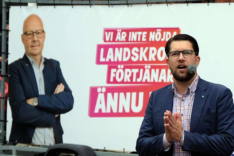 Tredje gången för Jimmie Åkesson i Landskrona