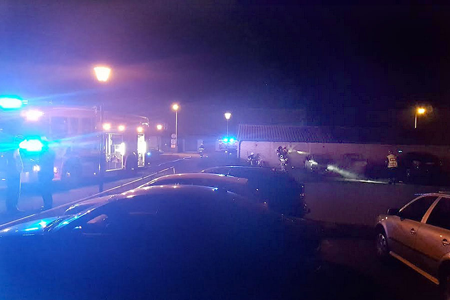 Bilbrand i Sandvången