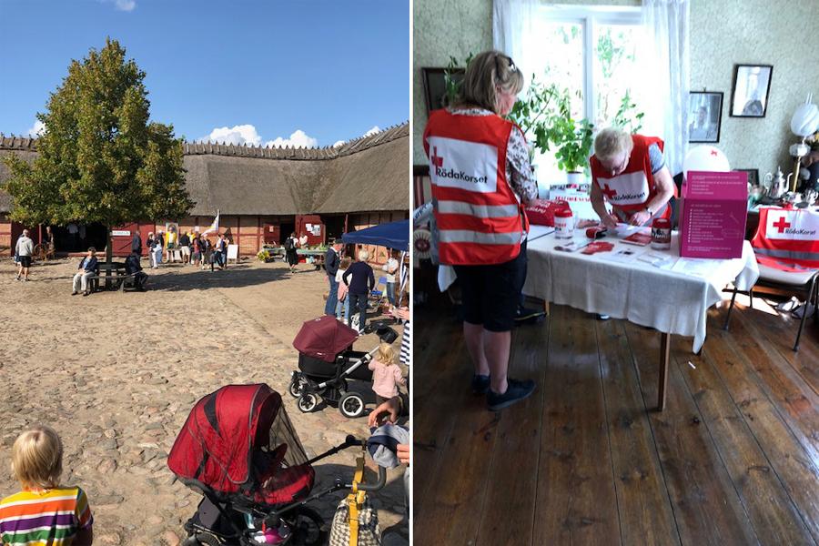 Röda Korset visade upp sig på skördfest