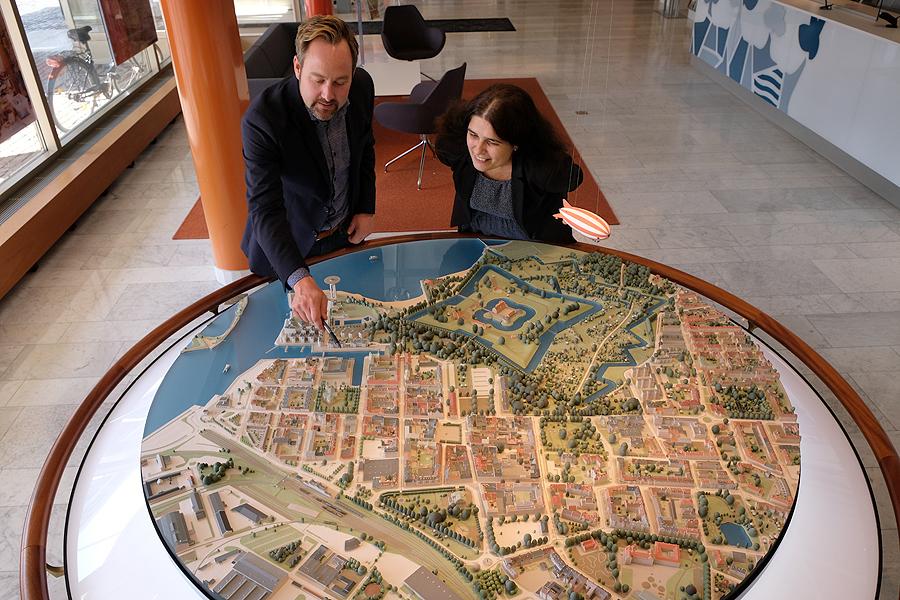 Centrum i miniatyr på stadshuset