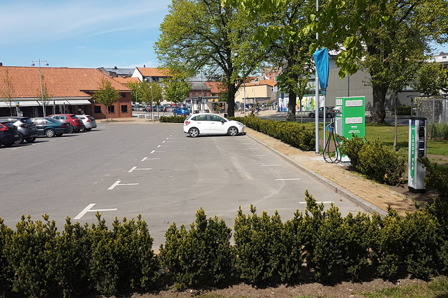 Fler elbilar kan laddas i Landskrona