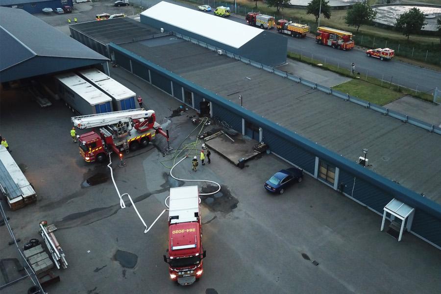 Brand på industriområdet