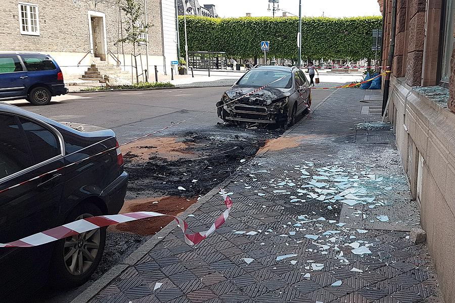 Bilbrand på Slottsgatan