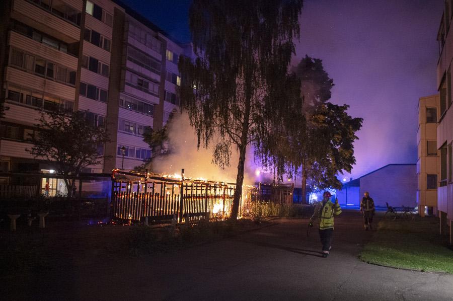 Misstänkt anlagd brand