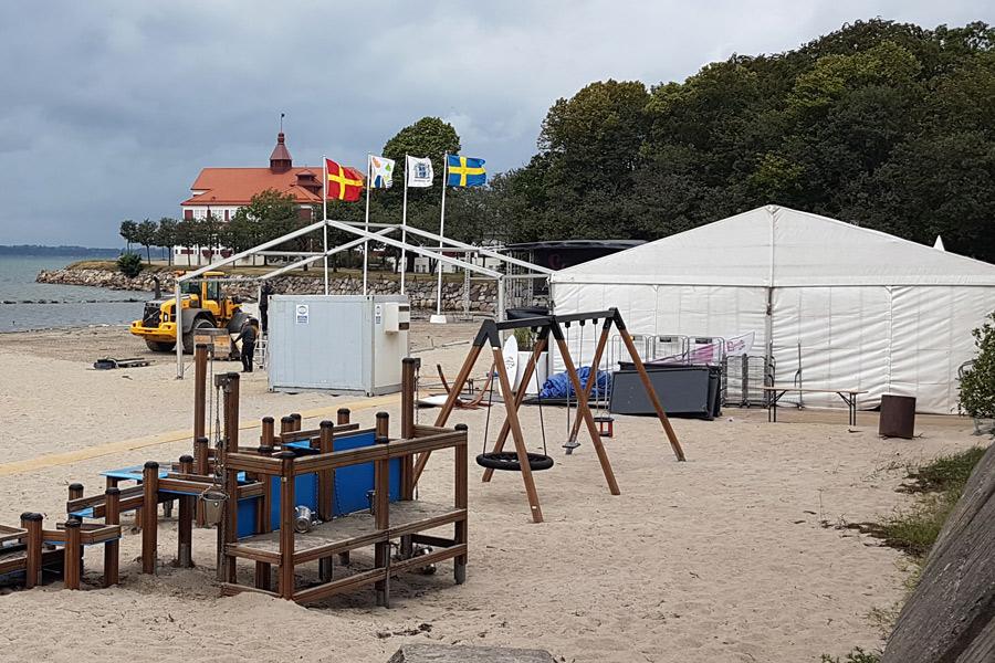 Tältet på Lagunen byggs ut