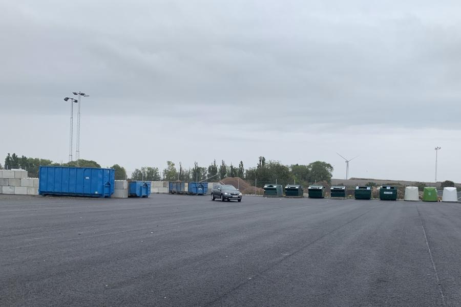 Nytt svängrum på återvinningscentralen