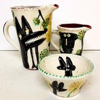 Keramik och kalas hos Karla