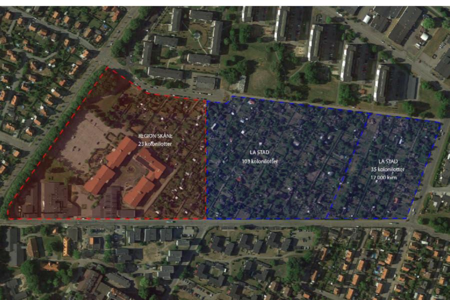 En fjärdedel av S:t Olovs vång föreslås bli bostäder